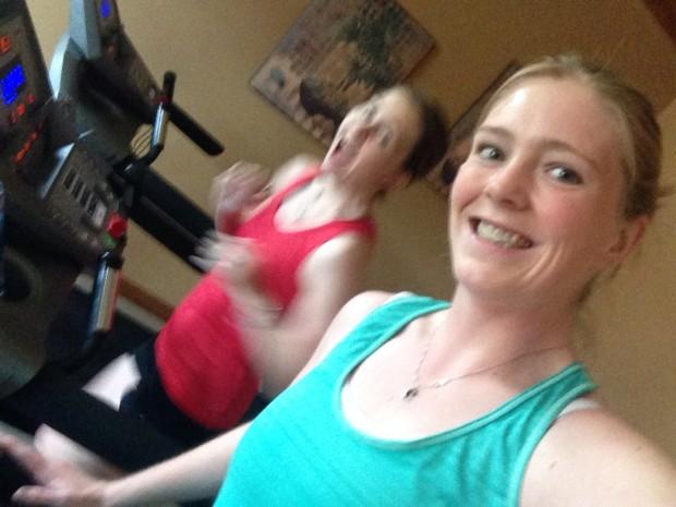 At the start - Tink's too fast!! Marathon training week #1