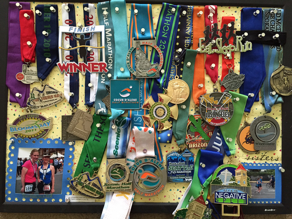 All my race medals
